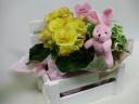 ウッドBOX花鉢 M