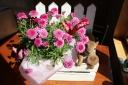 お花の中から「こんにちは」アニマル ~リス~