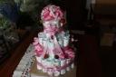 大好評!!おむつケーキ 3段 ピンク