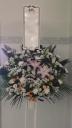 1段スタンド生花「淡い色合い」