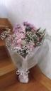お供え ピンクの花束