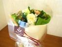 ホワイトローズ 花束 S