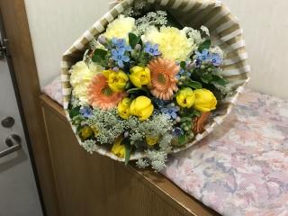 イエローオレンジ 花束