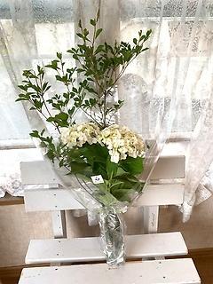 どうだんつつじ&紫陽花の花束