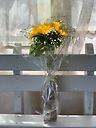 季節限定 向日葵とカスミソウの花束