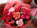 ◆鮮やか色の素敵花束◆