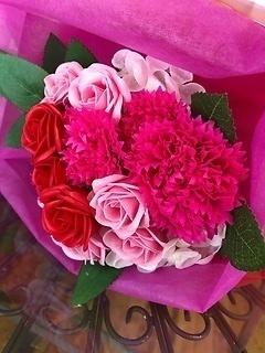シャボンフラワー・ピンク花束