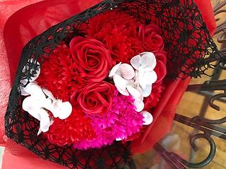 シャボンフラワー・レッド花束