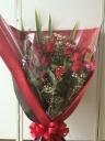 バラとカスミの花束