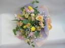 パステルカラ-の花束
