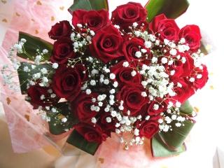☆どどーんと王道★憧れ赤バラの花束☆