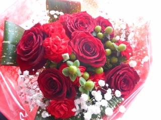 *?*? 豪華バラとカーネーションの花束 ?*?*
