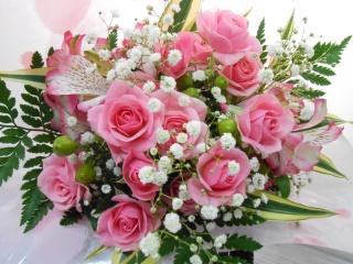 ?愛らしいピンクの花束?