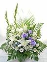 ~* 洋花のみ白・紫で故人を偲ぶ花 *~