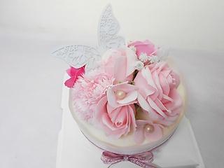 ♪ピンク・フレグランスケーキ・パピヨン♪