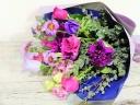 パープル×ピンクの大人色の花束