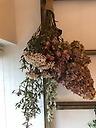 ドライフラワーの花束~スワッグ ボリュームピンク