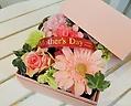 ~Mother'sday~ ピンクガーベラのボックスフラワー