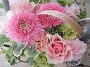 Thanks Mom!!~ピンクのバスケットフラワー~