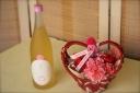 ノンアル梅酒【べびぃ鶴梅】とハートアレンジセット♪