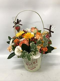 花かごスイーツキャンドル