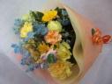 イエロ・オレンジの花束