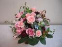 カーネーションの花かご