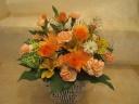 オレンジ系花かご