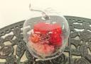 ガラスの林檎と真っ赤なプリザ