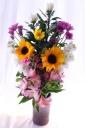 菊&ヒマワリのお供え花束