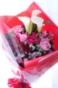 カラーとバラの花束