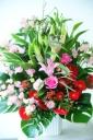ユリメインの大きな御祝花