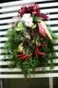 もりもりグリーンいっぱいのクリスマススワッグ