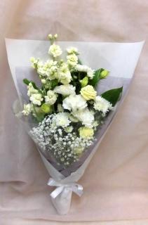 ホワイトのみのお供え花束