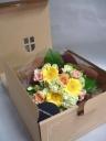 コーヒーと季節の花束のギフトボックス