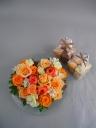 オレンジハートのクッキーセット