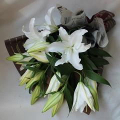 【オリエンタルリリーの花束】