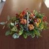 クリスマスを彩るお花【実物たちのバスケットアレン】