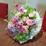 季節限定♪【雪柳とローズの花束】