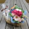 【花束とタオルのギフトセット・ピンク】