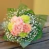 母の日に♪【カーネーションとカスミソウの花束】