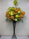 御祝スタンド花バルーン付き・イエロ―オレンジ系
