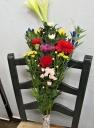 花里・田舎のお盆の花束