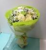 花里・お盆の白系洋花のご仏前花束