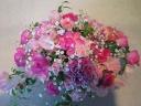 優しいピンク系のお花で・・・