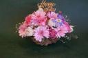 Happy Birthday はピンクのお花で・・