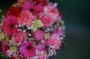 赤ピンク系のお花で・・