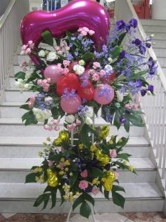 ブルー系スタンド花