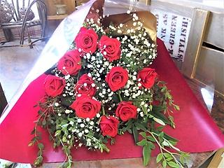 花束「厳選した赤バラ」