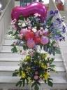 バルーンのスタンド花*カラフル2段